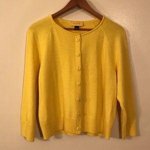 St John Yellow Cardigan Sweater